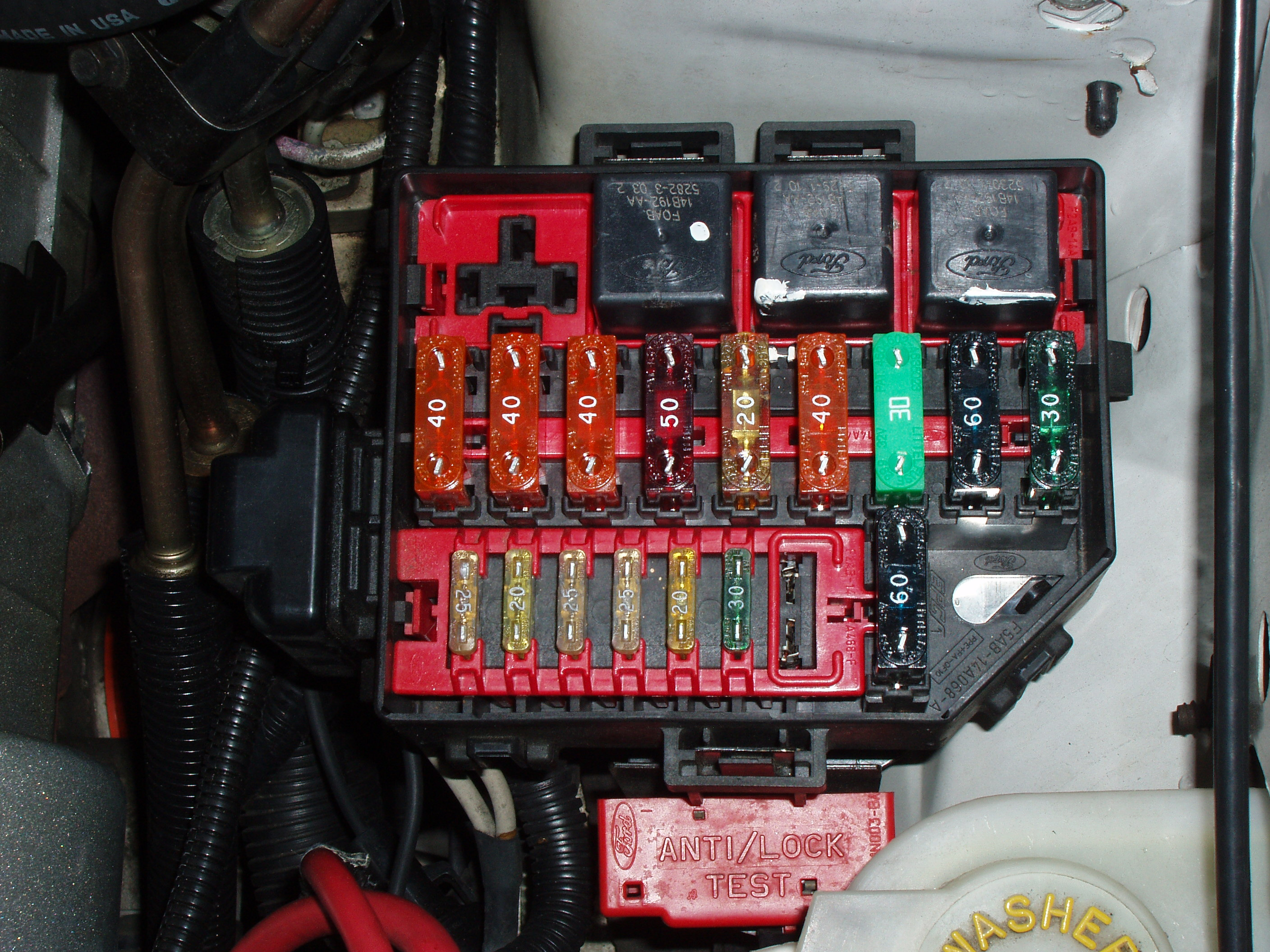 2004 Mustang Fuse Box Location List Of Schematic Circuit Diagram 2003 Neon Ford Gt 1996 To 2014 Why Is Abs Light On Mustangforums Rh Com Engine Layout