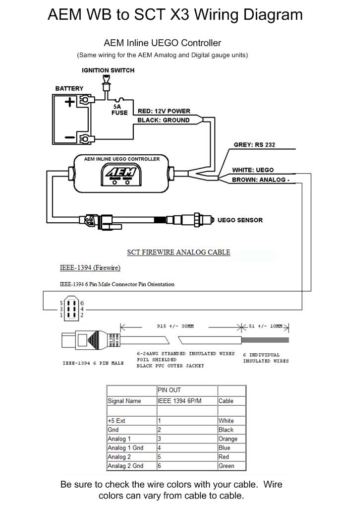 Aem Wideband Wiring Diagram: SCT Datalogging Cable Wiring Charts,Design